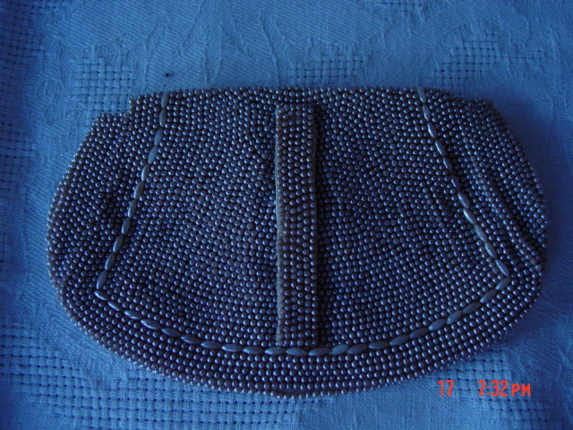 Vintage Imitation Pearl Bead Evening Clutch Bag Purse
