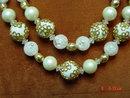Coro 2 Strand White Beaded Necklace