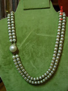 Double Strand Imitation Pearl Bead Necklace