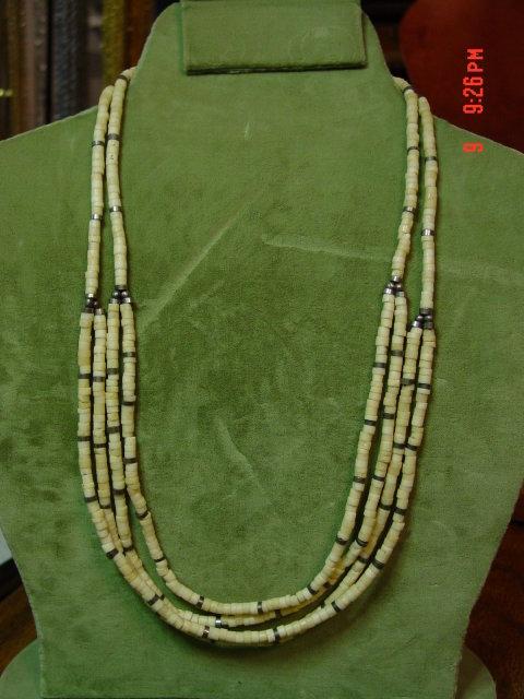 Bone Sliced Bead Necklace