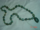 Egyptian Stone Scarab Necklace
