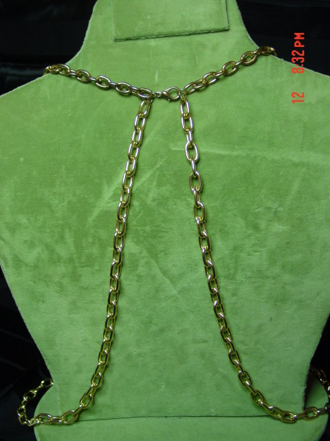 Mod 60's Long Gold Chain Necklace