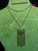 Vintage Brass Filigree Pendant & Chain