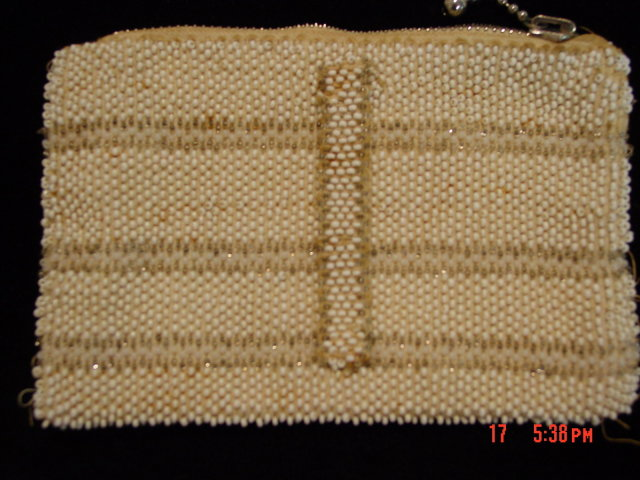 Vintage Czechoslovakia Seed Bead Belt Purse