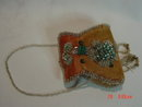 Antique Native American Indian Iroquois Beaded Box Cylinder Purse