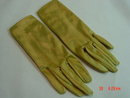 Vintage Gold Nylon & Spandex Satin Lovers Gloves by Finale