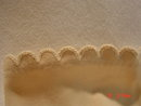 Cream Colored Stretch Nylon Miss Aris Gloves Size Medium