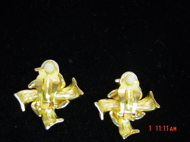 Erwin Pearl Gold & Cubic Zirconia Clip Earrings