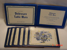 Box of 6 Past Times Delftware Table Mats