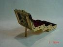 Vintage Gold Metal Accordian Stacking Jewelry Box