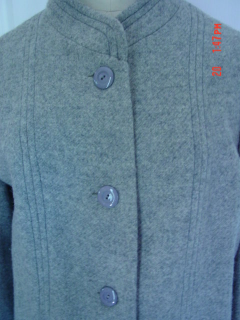 Ladies Gray Grey Wool Coat Made in England