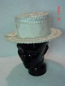 Vintage 1950's Off-White Straw Kutz Hat by Marie Dickert