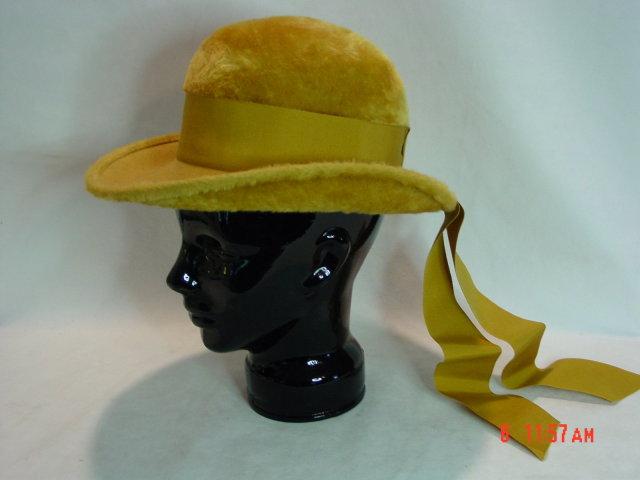 Gold Felt Betmar Ladies Hat