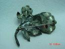 Old Pot Metal Flower Brooch