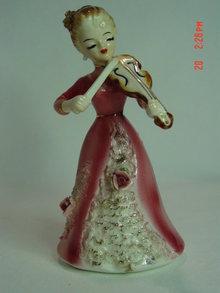 Josef Originals Porcelain Lady Violinist Figurine