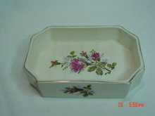 Off White Moss Rose Soap Dish