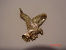 10K Gold Eagle Pendant Signed NF