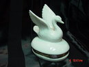 White Porcelain Hinged Swan Box