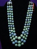 Three Strand Lavender Beaded Japan Necklace