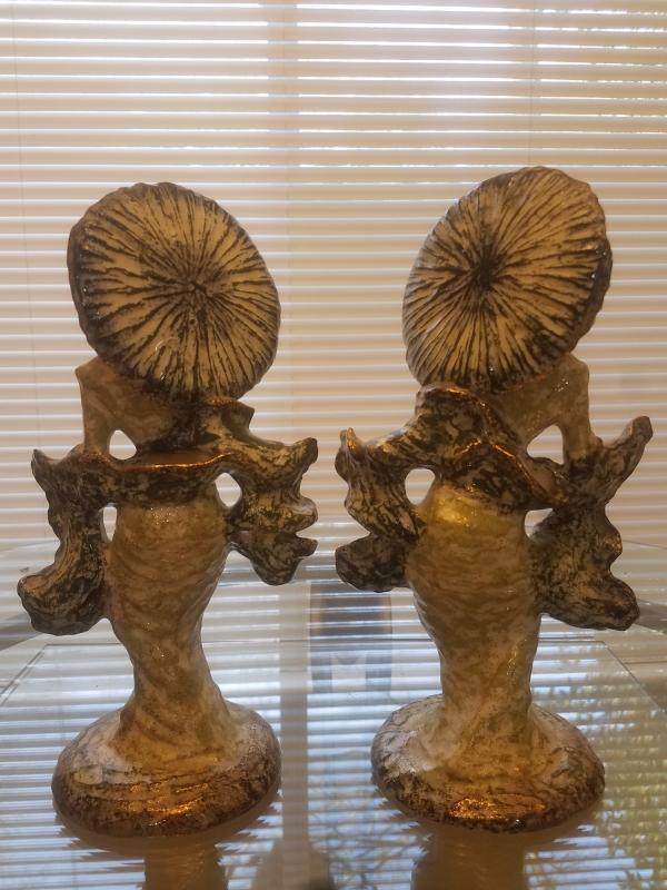 Pair of 1950's Hedi Schoop Geisha Girls Flower Holders Figurines