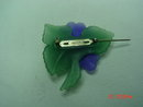 Avon Plastic Molded Violets Brooch Pin