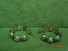 Heavy Taxco Mexico 925 Sterling Pierced Earrings