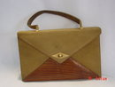 Vintage Nicholas Reich Suede and Reptile Handbag Purse