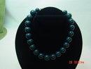 Plastic Marbelized Blue Green Choker Necklace