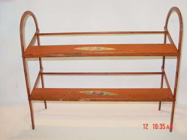 Antique Metal Store Shoe Display Rack