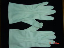 Vintage White Cotton Ladies Gloves