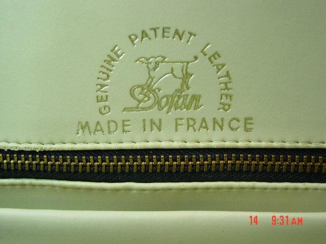 Black Genuine Patent Leather Kelly Handbag by Dofan
