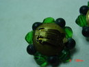Western Germany Green Clip Earrings