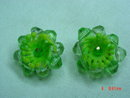 Germany Lime Green Plastic Beaded Clip Earrings