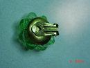 Germany Lime Green Plastic Beaded Clip Earrings