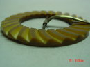 Carved Butterscotch Bakelite Belt Buckle