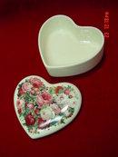Teleflora Porcelain Heart Roses Trinket Box