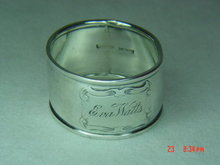 Sterling Silver Manufacturing Co. (SSMC) Engraved Napkin Ring