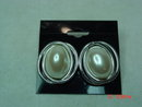 Richelieu Silvertone Faux Pearl Pierced Earrings