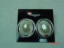 Richelieu Silvertone Faux Pearl Pierced Earrings