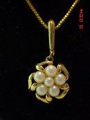 Richelieu Goldtone Faux Pearl Pendant