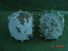 Marvella Stone Nugget Clip Earrings