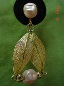 Coro Pink Bead Dangling Clip Earrings