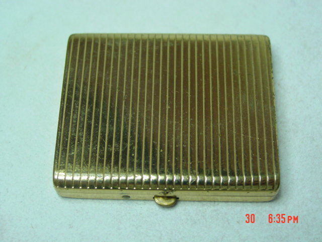 Vintage Gold Powder Compact