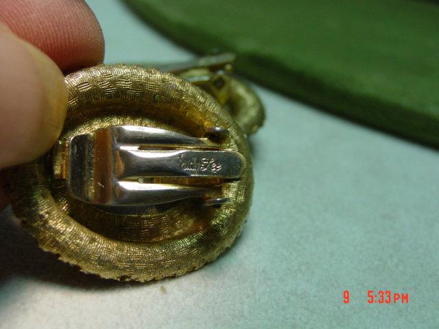 Judy Lee AB Crystal Cameo Pendant Brooch & Clip Earrings