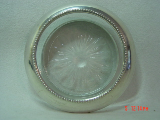 Sterling Silver Coaster by Frank M. Whiting & Co.