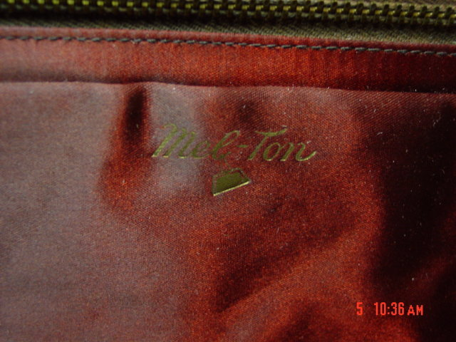 Vintage Mel-ton Brown Wool Handbag Purse