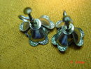 Czechoslovakia Aluminum Flower Screwback Earrings