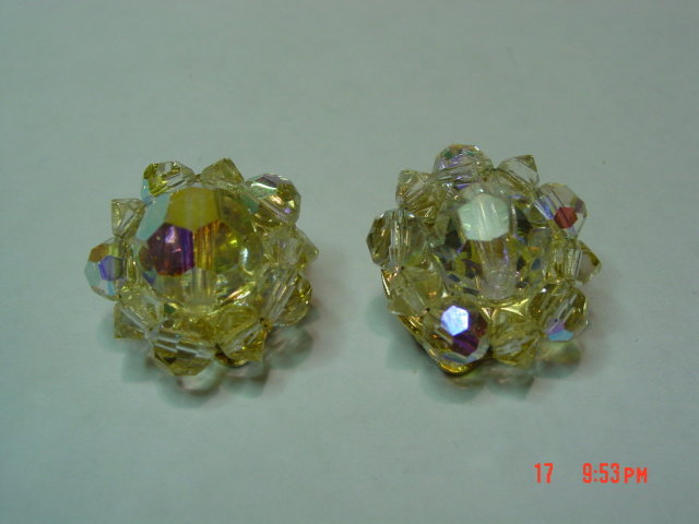 Lisner AB Crystal Clip Earrings
