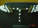 Western Germany 6 strand Faceted Milk Glass Bead Necklace