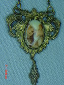 Victorian Porcelain Cameo Brooch Pin